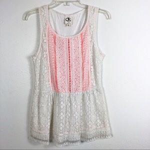 Anthropologie One September Coraline Lace Tank Top